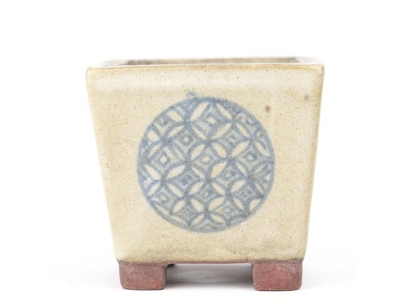 Vierkante veelkleurige bonsaipot - 52 x 54 x 50 mm