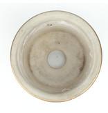 Ronde veelkleurige Kutani bonsaipot - 74 x 74 x 59 mm