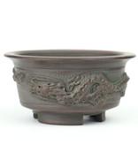 Ronde ongeglazuurde Bigei bonsaipot - 83 x 83 x 41 mm