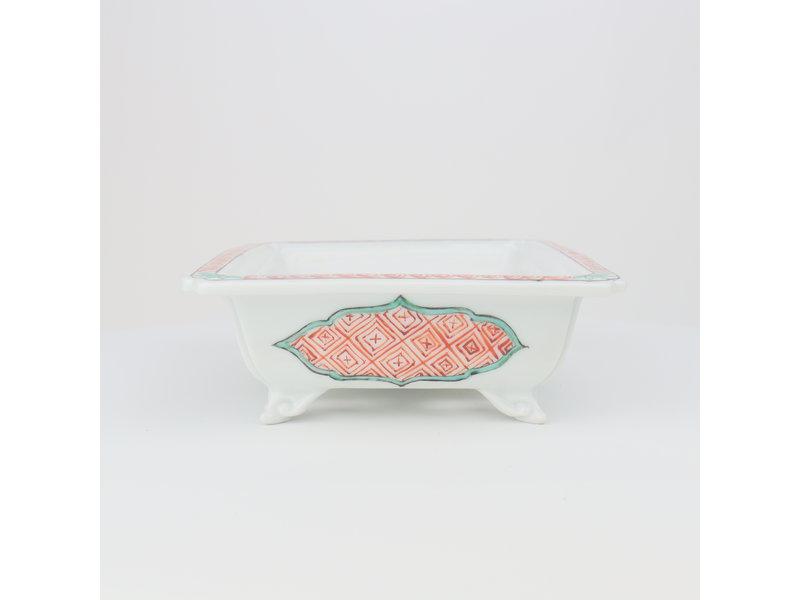 Rechthoekige meerkleurige Itou Tonyo bonsaipot - 165 x 133 x 50 mm