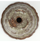 Ronde veelkleurige Gekko bonsaipot - 117 x 117 x 55 mm