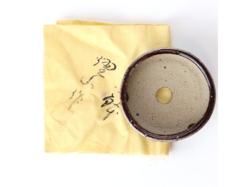 Ronde veelkleurige Maruto bonsaipot - 73 x 73 x 34 mm