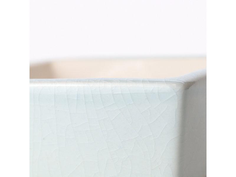 Vierkante blauw / wintertaling bonsai pot - 85 x 85 x 45 mm