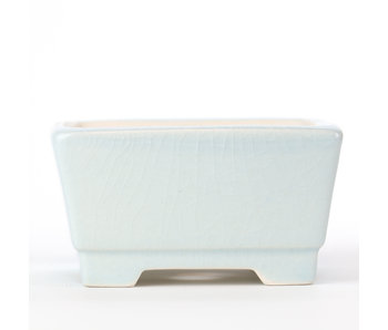 85 mm square Blue/Teal pot from China