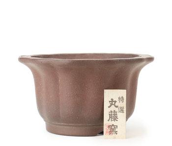 185 mm ronde ongeglazuurde pot uit Japan
