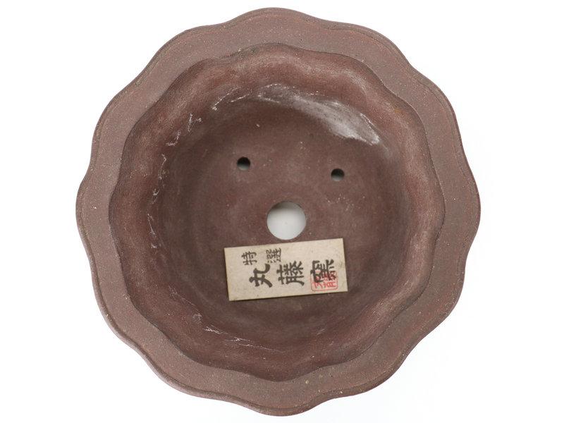 Ronde ongeglazuurde bonsaipot - 185 x 185 x 105 mm