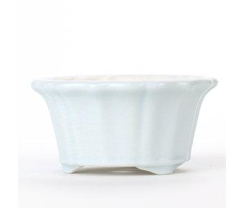 Pot rond bleu / turquoise 90 mm de Chine