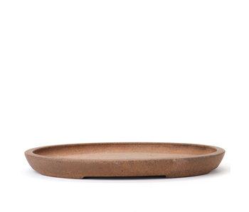 Pot à bonsaï ovale non émaillé 175 mm par Kenzan, Japon