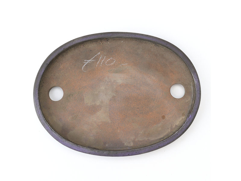 Oval purple Kenzan bonsai pot - 174 x 130 x 16 mm