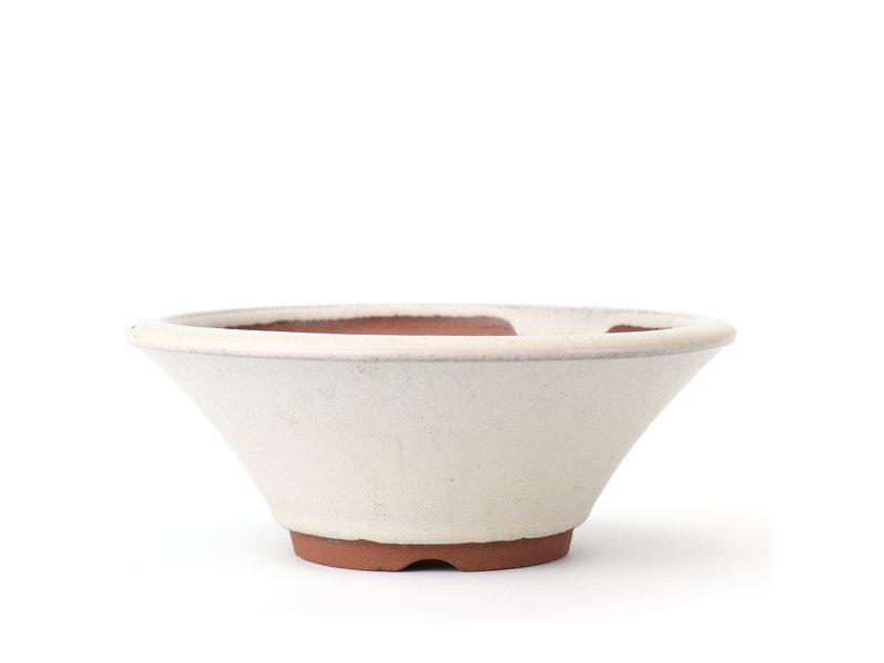 Ronde witte Eime Yozan bonsaipot - 117 x 117 x 65 mm