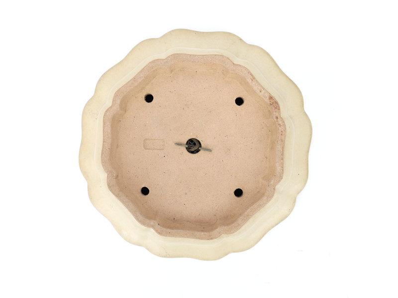Ronde beige Reiho, tweede generatie bonsaipot - 285 x 285 x 95 mm