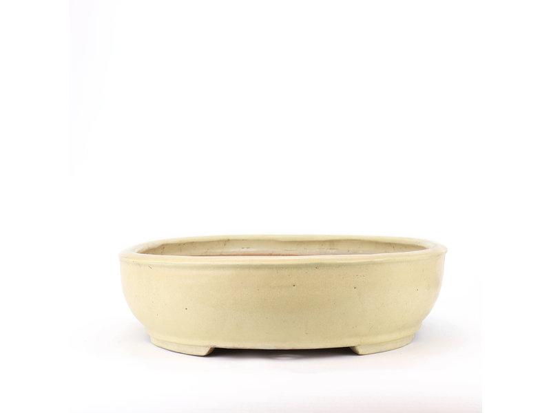 Ovale beige Shuhou bonsaipot - 500 x 410 x 100 mm