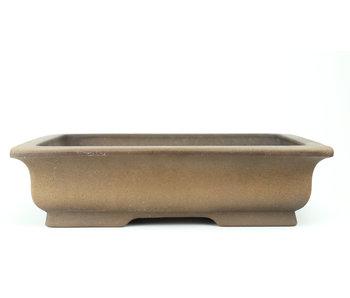 Pot à bonsaï rectangulaire non émaillé 312 mm par Shoko, Tokoname, Japon