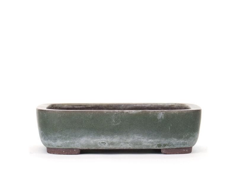 Rechthoekige groene Yamaaki bonsaipot - 230 x 175 x 60 mm