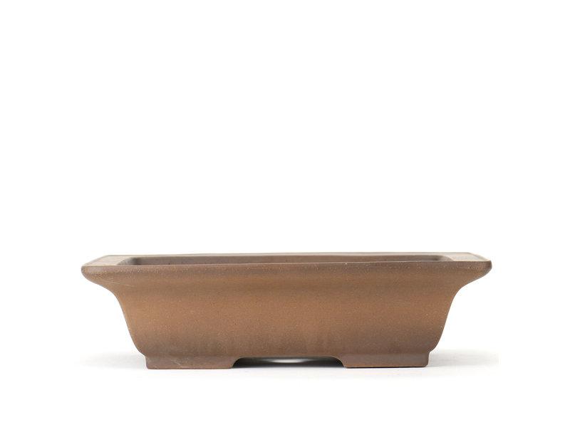 Rechthoekige ongeglazuurde Shoko-bonsaipot - 302 x 245 x 80 mm