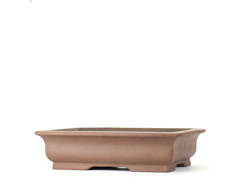Rechthoekige ongeglazuurde Shoko-bonsaipot - 305 x 245 x 75 mm