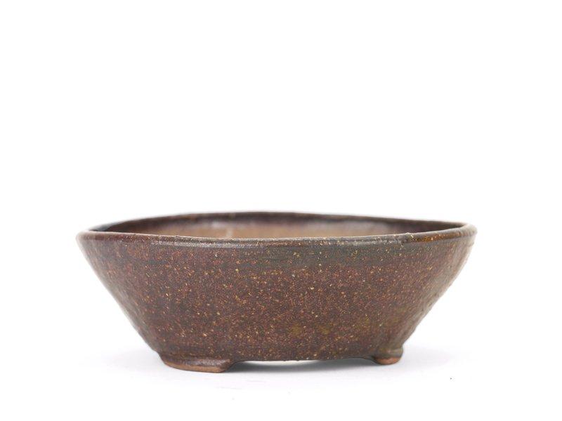 Ronde bruine Bonsai bonsai pot - 110 x 110 x 40 mm