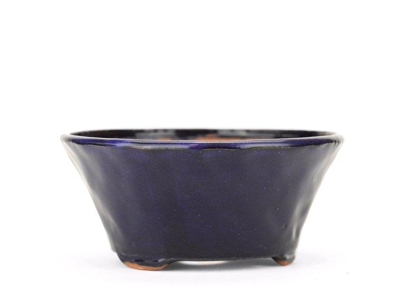 Ronde blauwe Bonsai bonsai pot - 120 x 120 x 55 mm
