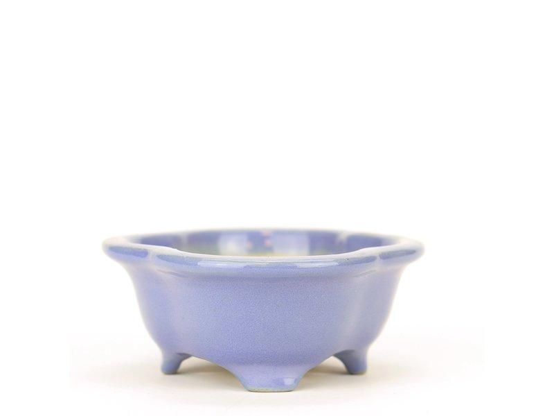 Mokko blauwe Yozan bonsai pot - 100 x 83 x 35 mm
