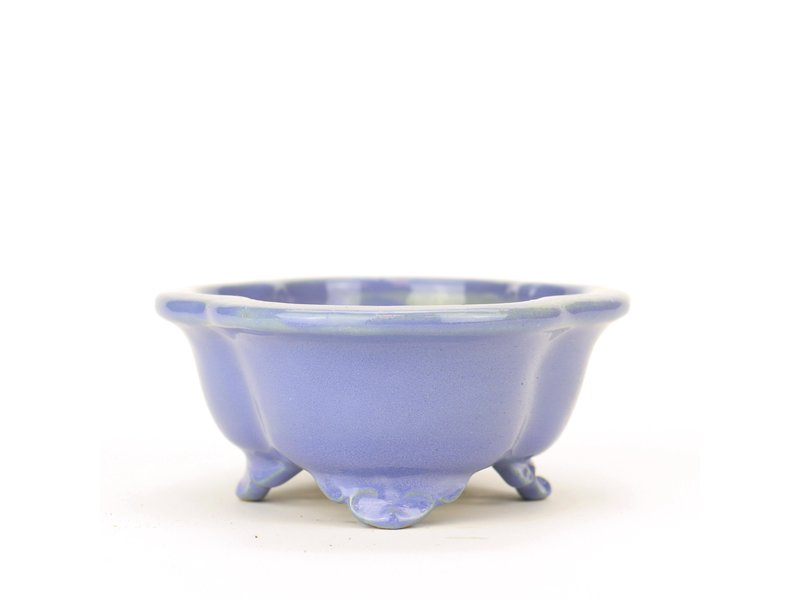 Mokko blauwe Yozan bonsai pot - 130 x 115 x 50 mm