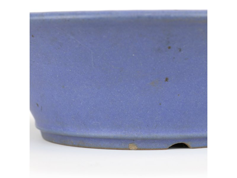 Ronde blauwe bonsaipot van Reiho - 280 x 280 x 85 mm