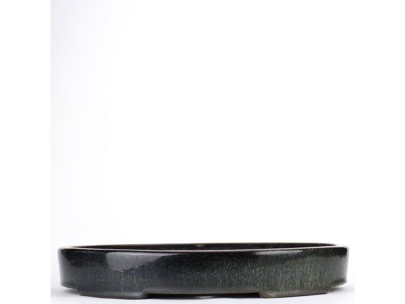 Ovale veelkleurige bonsaipot van Taizan - 420 x 320 x 65 mm