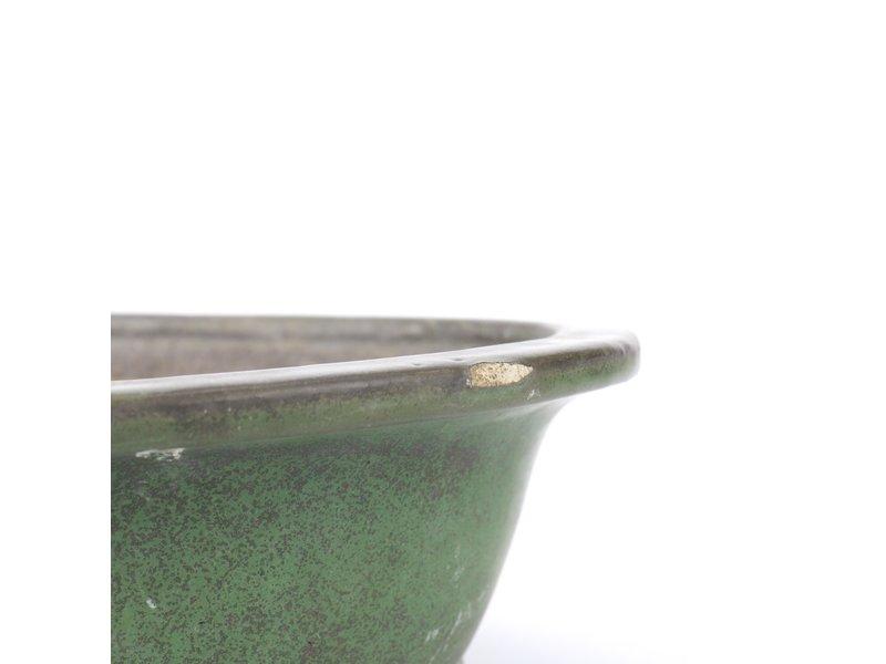 Ovale groene bonsaipot van Yamafusa - 345 x 285 x 110 mm