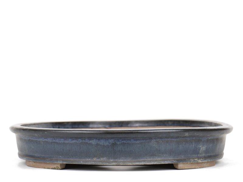 Ovale blauwe bonsaipot - 480 x 370 x 60 mm