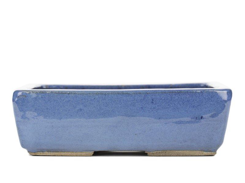 Rechthoekige blauwe bonsaipot van Taizan - 250 x 210 x 75 mm