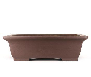 470 mm rectangular unglazed bonsai pot by Yamaaki, Tokoname, Japan