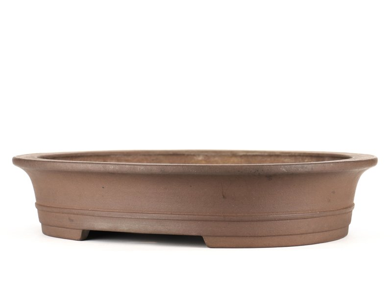 Ovale ongeglazuurde bonsaipot van Taizan - 460 x 360 x 95 mm