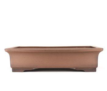 470 mm rectangular unglazed bonsai pot by Sanpo, Japan