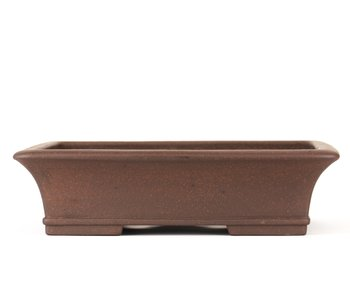 300 mm rectangular unglazed bonsai pot by Toho, Japan