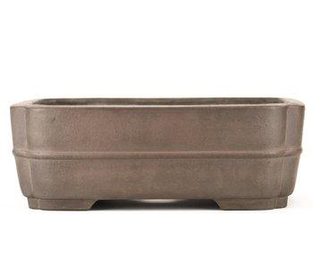 Pot à bonsaï rectangulaire non émaillé 320 mm par Sanpo, Japon