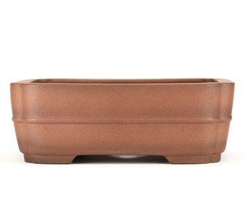 Pot à bonsaï rectangulaire non émaillé de 325 mm par Sanpo, Japon