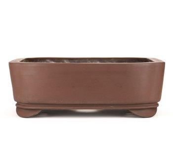Pot à bonsaï rectangulaire non émaillé 330 mm par Sanpo, Japon