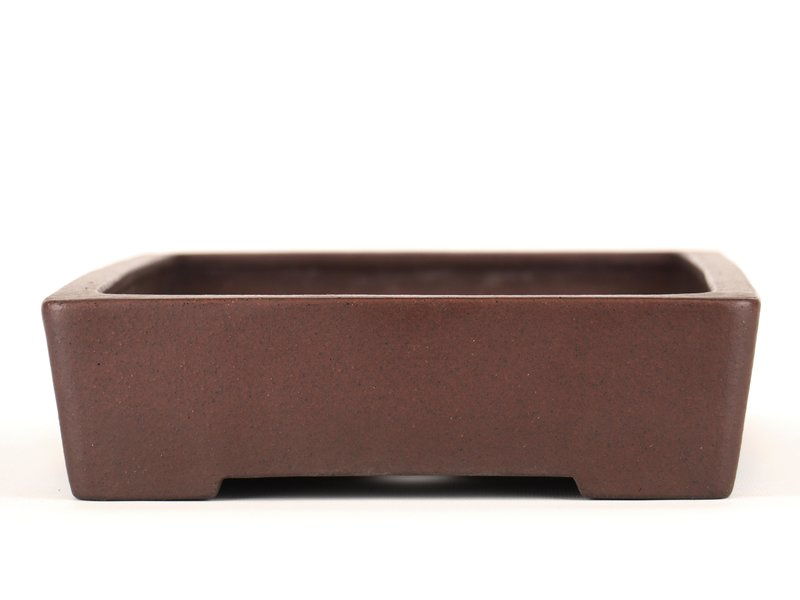 Rectangular unglazed bonsai pot by Yamaaki - 350 x 245 x 67 mm