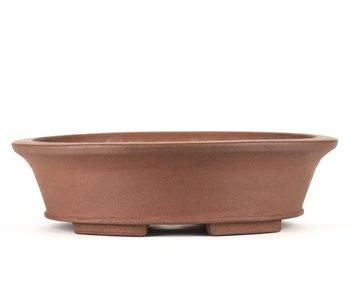 Pot à bonsaï ovale non émaillé 330 mm par Shozan, Japon