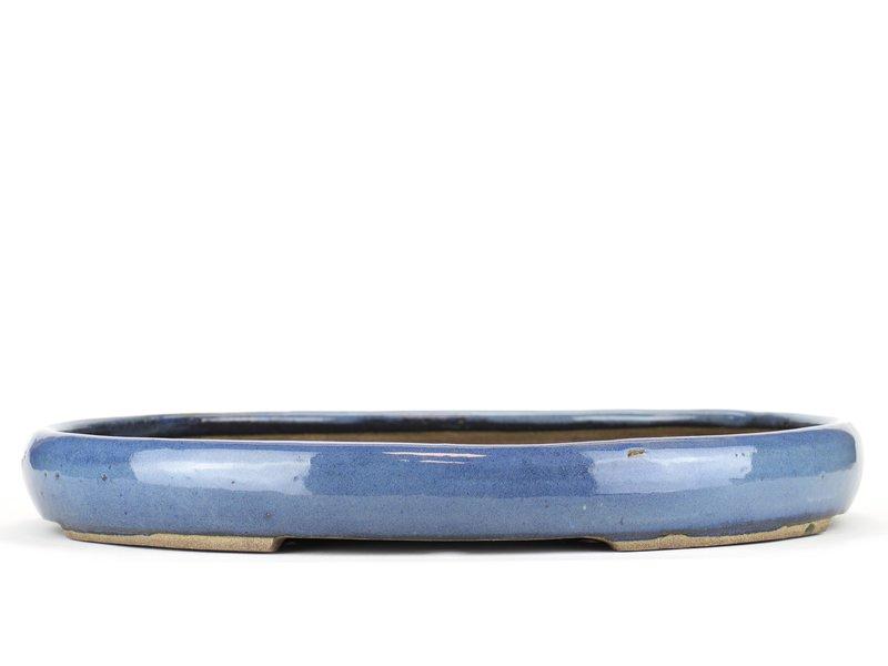 Ovale blauwe bonsaipot van Taizan - 460 x 340 x 55 mm