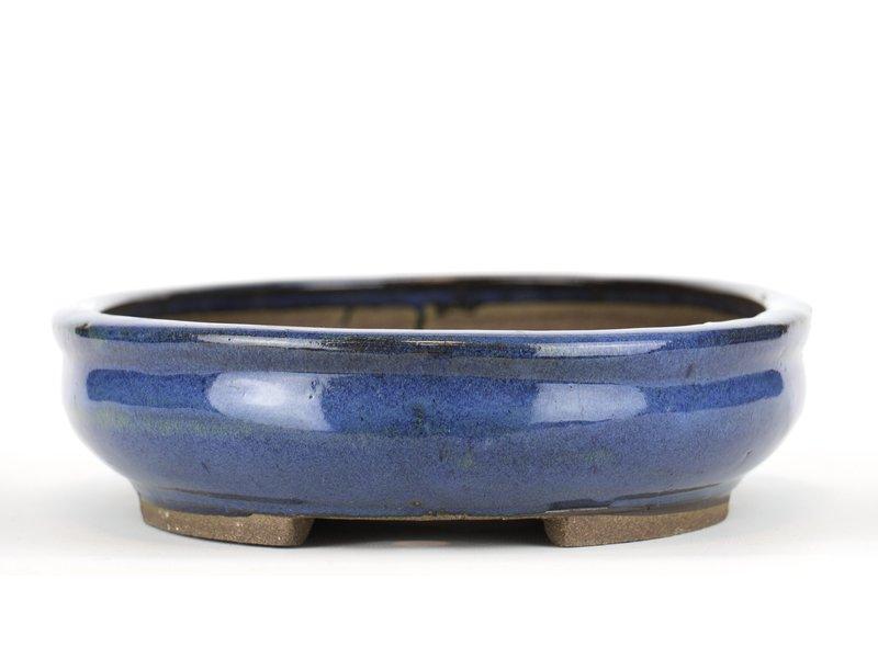 Ovale blauwe bonsaipot van Taizan - 330 x 250 x 65 mm