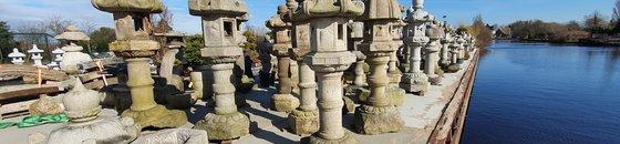 Japanse stenen lantaarns