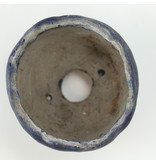 Ronde blauwe bonsaipot - 50 x 50 x 27 mm