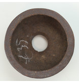 Ronde ongeglazuurde Hattori-bonsaipot - 55 x 55 x 25 mm