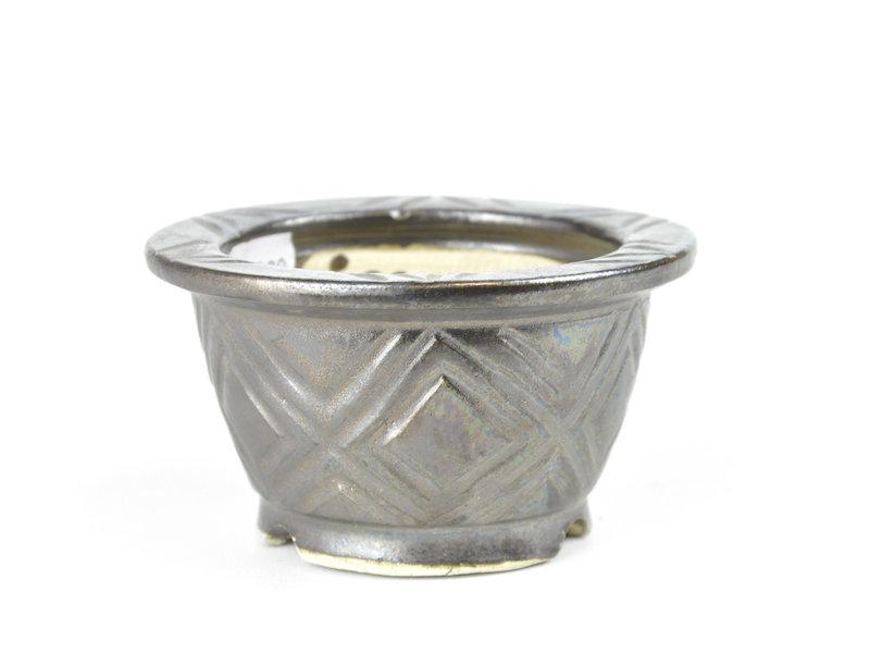 Ronde bronzen Sa Ra Ku bonsaipot - 107 x 107 x 58 mm