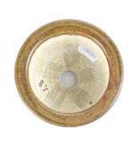Ronde bruine Sa Ra Ku bonsaipot - 110 x 110 x 55 mm