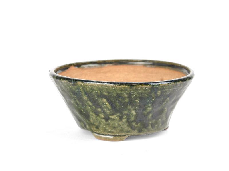 Ronde groene Bonsai bonsai pot - 122 x 122 x 55 mm