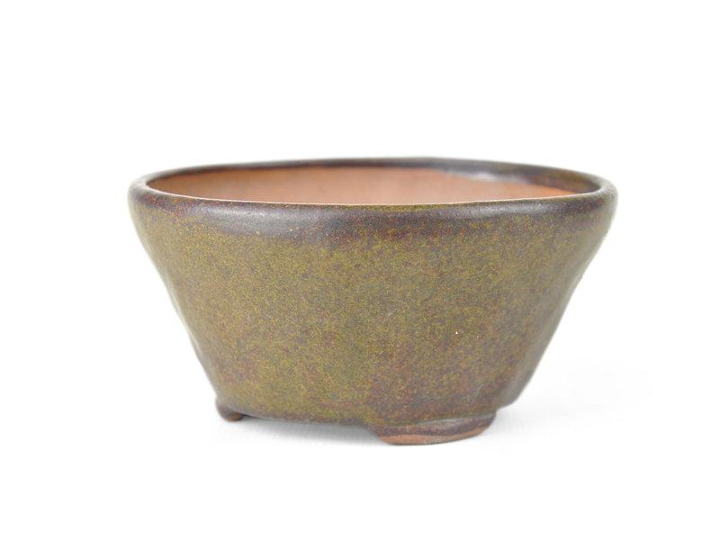 Ronde bruine Bonsai bonsai pot - 106 x 106 x 60 mm