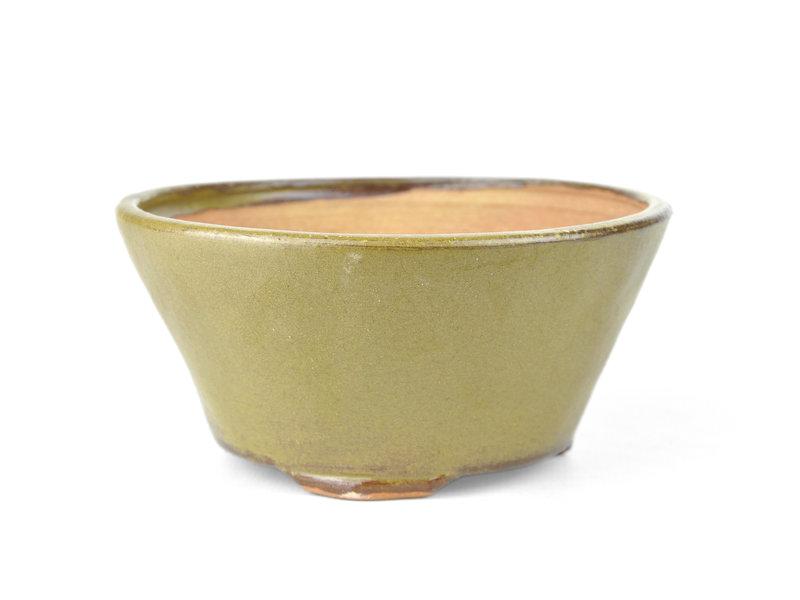 Ronde groene Bonsai bonsai pot - 122 x 122 x 60 mm