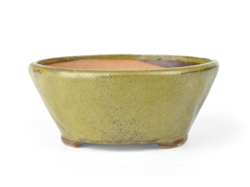Ronde groene Bonsai bonsai pot - 118 x 118 x 60 mm