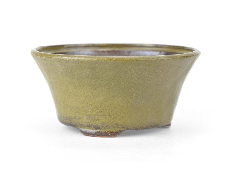 Ronde groene Bonsai bonsai pot - 115 x 115 x 60 mm